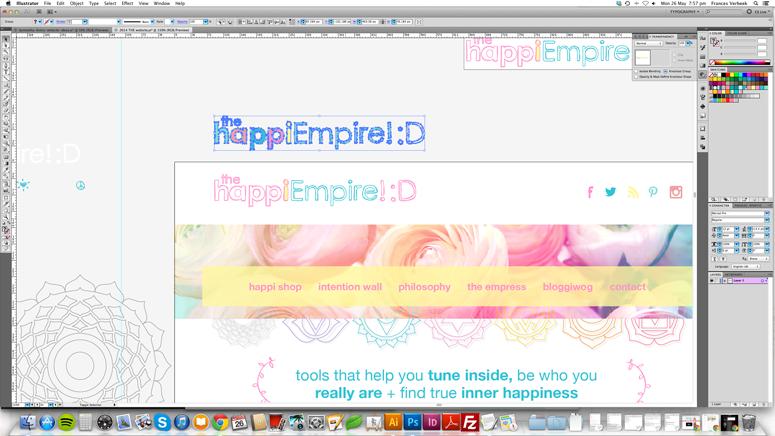 Website design in progress