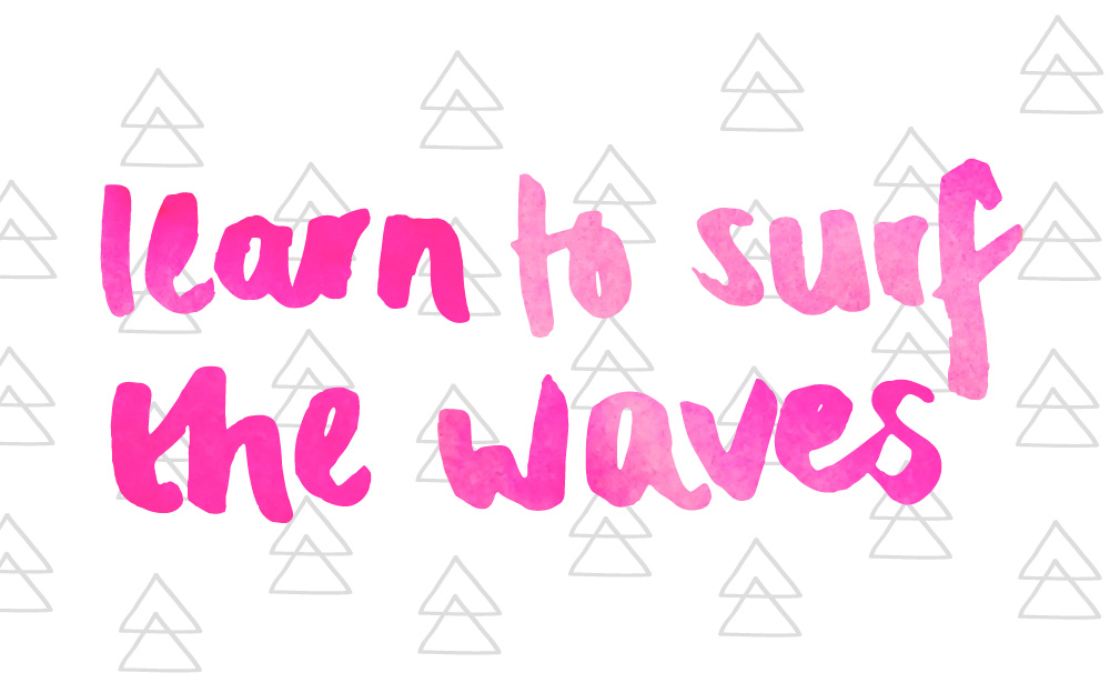 learn to surf the waves