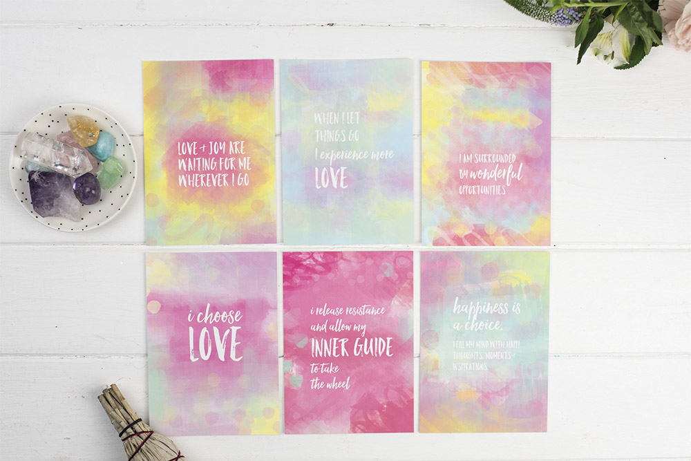 Affirmations Art Print Set