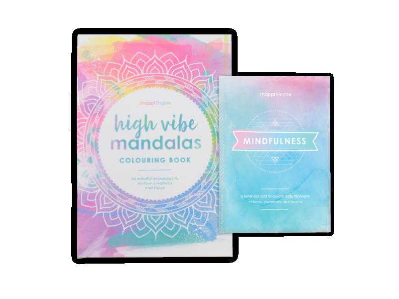 Mandala Colouring Book and Mindfulness Pad bundle