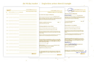 90 day tracker and forgiveness worksheet with examples