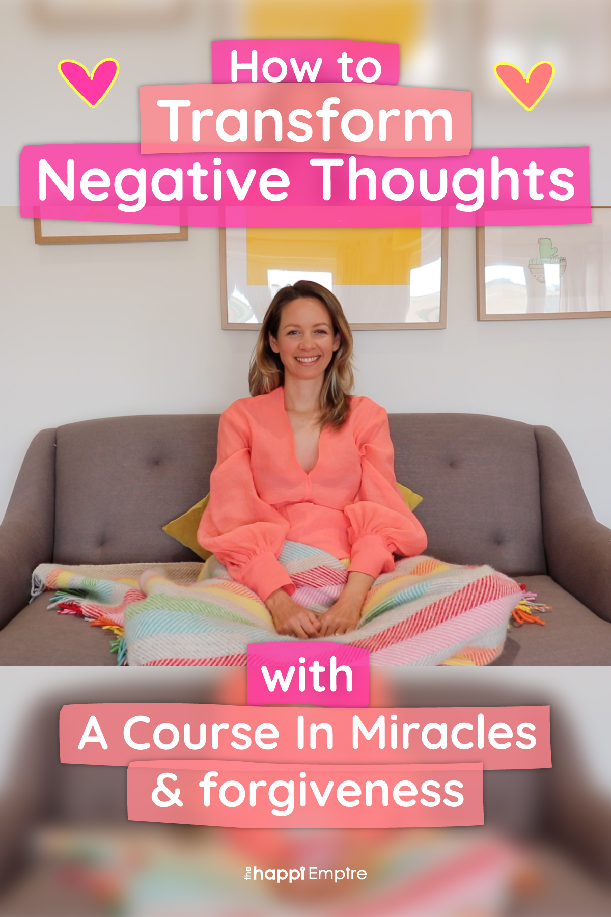How to transform negative thoughts with A Course In Miracles & forgiveness