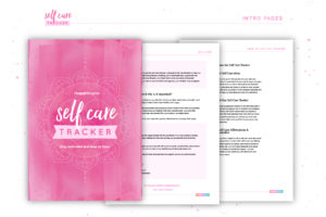 Self Care Tracker intro pages
