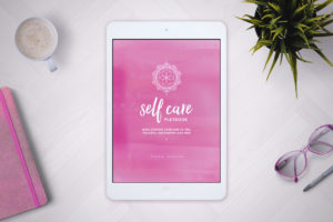 Self Care Playbook on iPad