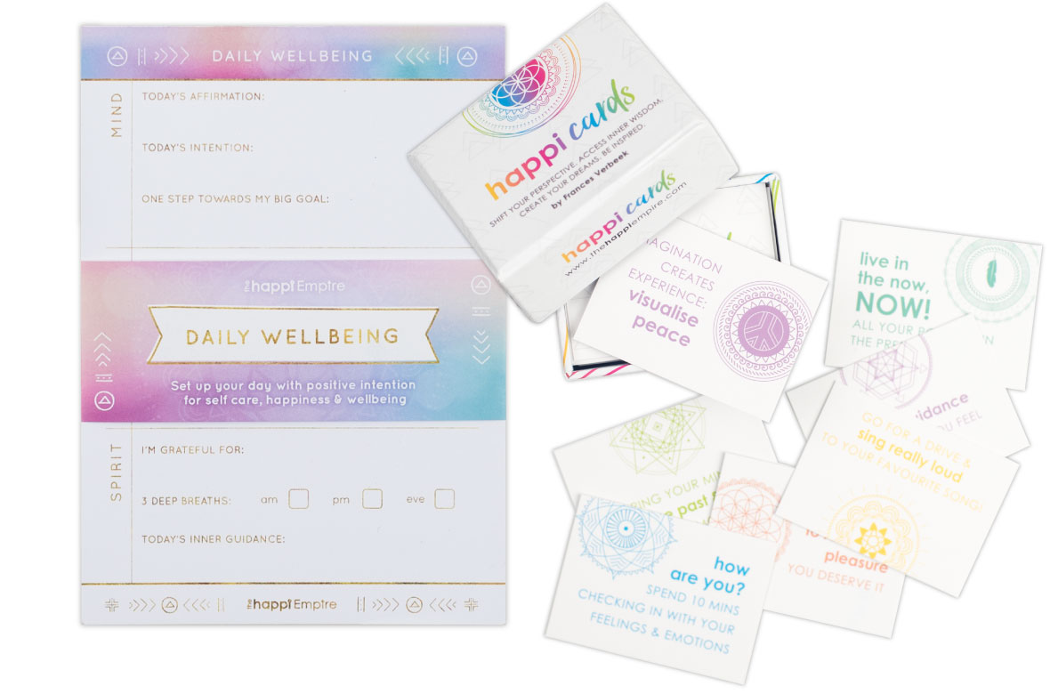 Happi Cards & Daily Wellbeing Pad bundle