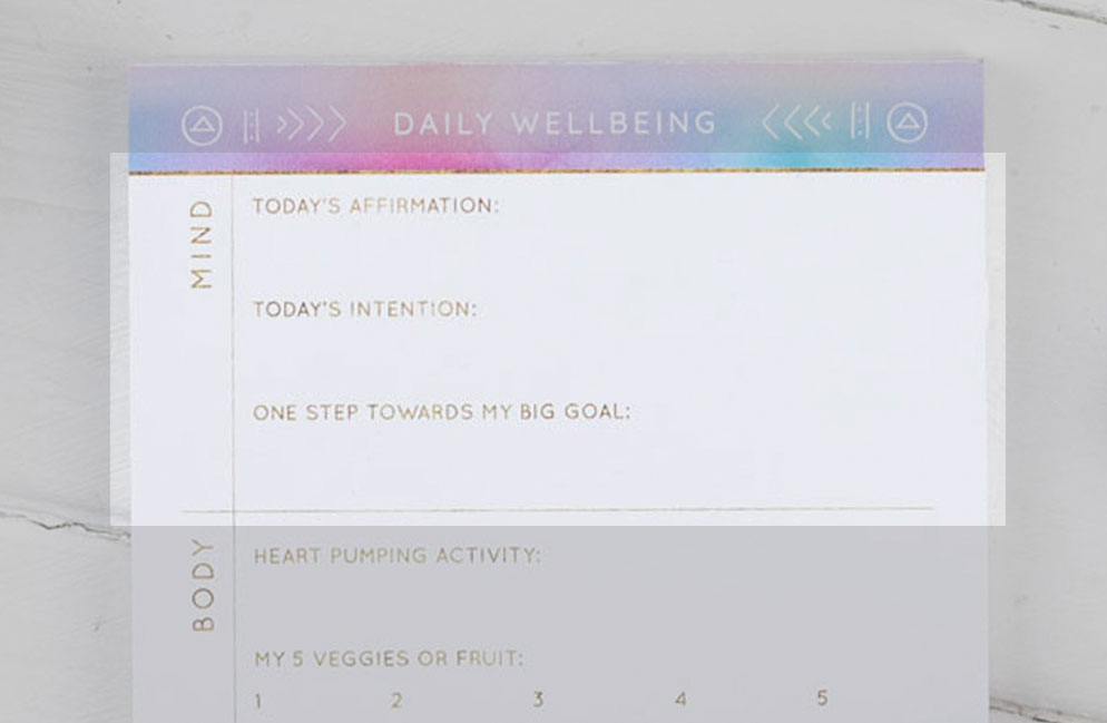 Daily Wellbeing Pad - mind